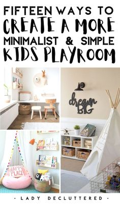 Playrooms can easily become overwhelming. If you're searching more a minimal approach to your child's playroom then you may want to check out these amazing 15 DIY minimalist playroom organization ideas to get you started! Find clever storage hacks and creative playroom decor to make your minimalist playroom happen. #ladydecluttered #minimalistplayroom #playroomorganization #toyorganization #playroomstorage #toystorage #howtoorganizeaplayroom #DIYPlayroomideas #playroomdecoratingideas Ikea Kids Playroom, Playroom Shelves, Playroom Organization, Playroom Decor, Room Decor Bedroom, Organization Ideas, Kids Rooms, Declutter Your Home, Organizing Your Home