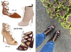 fall shoes, lace up booties, sale shoes, casual outfit, date night outfit, fall outfit, fall booties, cropped denim, cropped jeans, flare jeans