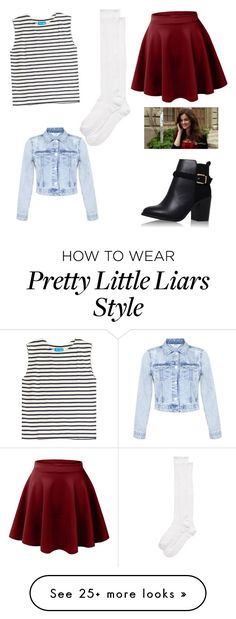"""""""Aria Montgomery"""" by maryjsullivan on Polyvore featuring M.i.h Jeans, LE3NO, Miss Selfridge, Topshop and Kate Spade"""