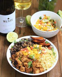 Cuban Chicken & Black Bean Rice Bowls - Ev's Eats