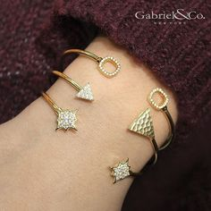Golden splendor  Shop this perfect bracelet stack by clicking the link in our bio! #gabrielny #bracelets #armparty #gold #love #fashion #jewelry #armcandy  Style #: BG3883 BG3891 BG3888 by gabrielandco