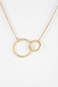 Delicate Interlocked Geo Necklace- Urban Outfitters- $14