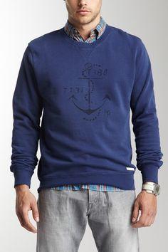 Scotch & Soda Indigo Inspirited Sweatshirt. yes, i'll post men's clothing if it's something i'd wear