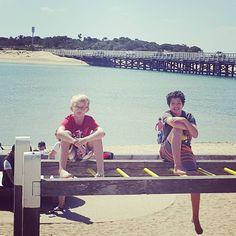 Summer dayz. Kicking back with Lochmeister #brother #stepbrothers #mates #blendedfamily #adventureplayground #barwonheads #bellarinepeninsula #ashmaxadventures #ashmax by ashmaxcassar http://ift.tt/1JO3Y6G