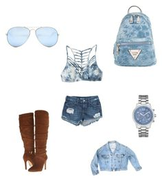 """""""GUESS"""" by amilagarcia12 on Polyvore featuring GUESS and RVCA"""