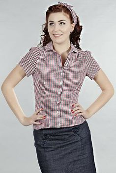 that same old favorite blouse. Red checked