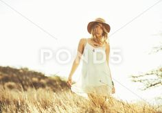Stock photo Fashion Lifestyle. Fashion Portrait of Beautiful Young Woman Outdoors. Soft warm vintage color tone. Artsy Bohemian Style..  7.1 MB. 5336 x 3736. From $10. Royalty free. Download now >>>