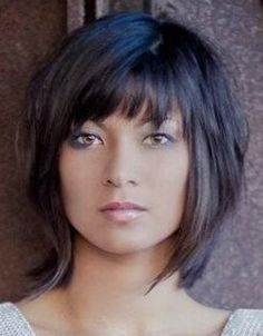 25 latest bob hairstyles with bangs 2017 hairstyle ideas women hairstyles Layered Bob Hairstyles bangs bob Frisuren Hairstyle hairstyles ideas Latest newest Women Thin Hair Cuts, Short Hair With Layers, Medium Hair Cuts, Medium Hair Styles, Short Hair Styles, Layered Bob With Bangs, Short Bobs With Bangs, Bob Hairstyles With Bangs, Bob Haircut With Bangs