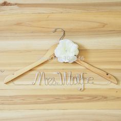 Personalized Wedding Hangers, shower gifts, Bride gift, Wedding Gift, Name Hangers with flower-in Event & Party Supplies from Home & Garden ...