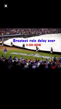 62bacbd9378 When a 14 minute rain delay helped the whole game Cubs 2016 World Series  champs Chicago