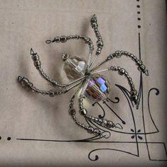 Crystal Widow Christmas Spider Ornament Sun catcher by AlaArt