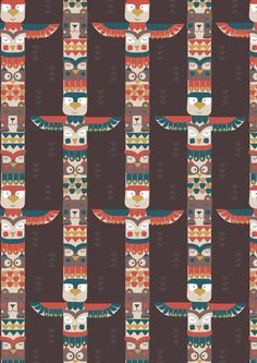 Crib Sheet-Baby Boy-Fitted-Rustic Totem Poles Toddler Bed Sheet-Baby Bedding-Big Bear Little Bear or Mini Crib-Sheet-Brown-Native American Toddler Bed Sheets, Crib Sheets, Totems, Bear Totem, Woodland Fabric, Mini Crib, Art Gallery Fabrics, Big Bear, Art Graphique