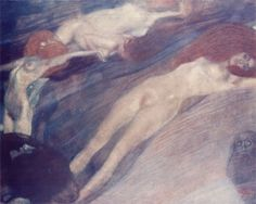 Early Works / Bewegtes Wasser (Moving Water)1898 Gustav Klimt