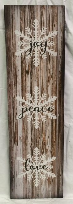 Teds Wood Working - A simple but elegant rustic style sign. The design is available as a wood sign or canvas wall hanging. Sawtooth hanger is attached for proper wall placement. Copyrights 2015 HeartlandSigns Get A Lifetime Of Project Ideas & Inspiration! Love Wood Sign, Rustic Wood Signs, Wooden Signs, Wooden Diy, Pallet Crafts, Wood Crafts, Diy Crafts, Rustic Christmas, Winter Christmas