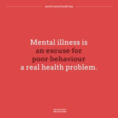 Mental Health Awareness Day, Mental Health Day, Mental Health Problems, Mental Illness, Recovery, Behavior, Life Quotes, Motivation, Sayings