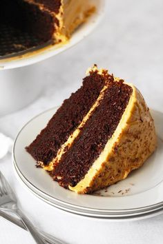Warning: This post is for extreme dessert lovers only. I've been craving a big slice 'o chocolate cake somethingfierce. This particular craving has been nagging at me for a couple of m…