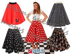 """#Ladies 1950's 50's grease style polka dot 24""""length #skirts vintage #fancy dress,  View more on the LINK: http://www.zeppy.io/product/gb/2/182014103844/"""