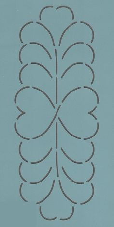 "Heart Feather Sashing 4.5"" - The Stencil Company"