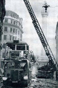 Embedded London Bus, London City, Vintage London, Old London, London Bombings, London History, London Calling, World War Two, London England