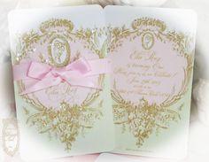 Our new Laduree inspired Mint Macaron Marie Antoinette Event Invitations. www.PaperNosh.etsy.com