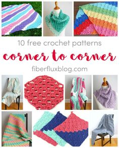 Corner To Corner Crochet, 10 Free Patterns on Fiber Flux