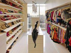 Walk in closet - penthouse Luxury Wardrobe, Walk In Wardrobe, Luxury Closet, Wardrobe Room, Perfect Wardrobe, New York Penthouse, Manhattan Penthouse, Walking Closet, Room Closet
