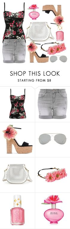 """""""Flower valley"""" by erohina-d ❤ liked on Polyvore featuring beauty, M&Co, Hallhuber, Brian Atwood, Acne Studios, Cynthia Rowley, Essie and Marc Jacobs"""