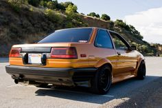 Toyota Corolla AE86 Coupe fitted with Watanabes