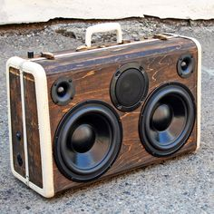 A Custom WoodGrain BoomCase with 120v power outlet built-in for Burning Man back in August. Available in our online store.