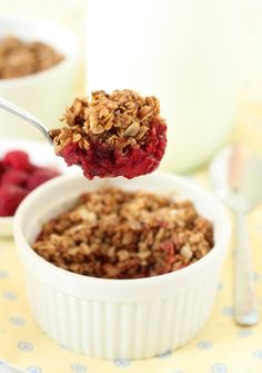 100% Whole Grain Raspberry Crumble | Texanerin Baking