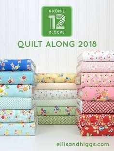 Ein zweites Jahr mit dem 6 Köpfe 12 Blöcke Quilt-Along! Quilting For Beginners, Quilting Tutorials, Quilting Projects, Easy Quilt Patterns, Pattern Blocks, Animal Quilts, Tips & Tricks, Easy Quilts, Quilt Blocks