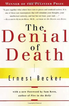 """The Denial of Death by Ernest Becker. Winner of the 1974 Pulitzer prize and the culmination of a life's work, A brilliant and impassioned answer to the """"why"""" of human existence. In bold contrast to the predominant Freudian school of thought, Becker tackles the problem of the vital lie -- man's refusal to acknowledge his own mortality. In doing so, he sheds new light on the nature of humanity and issues a call to life and its living that still resonates more than twenty years after its writing."""