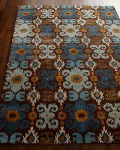 blue and orange rug