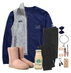 """""""Thank Goodness It's Friday"""" by hailstails ❤ liked on Polyvore featuring Vineyard Vines, Patagonia, UGG Australia, Madewell, Hipchik, Kenneth Jay Lane, Maybelline, Eyeko and Casetify"""