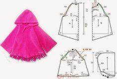 Materiales gráficos Gaby: Capa para niña costura fácil