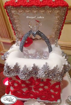 Engagement Ring Box Cake by Royal Cakes.