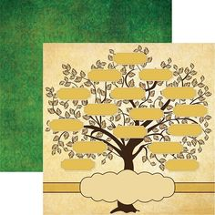 Your Family Tree is sure to flourish when you use this x double sided paper by Reminisce. The package contains one sheet of paper that is acid and lignin free. This paper is part of the Family Tree Collection and is made in the USA. Family Tree Quilt, Make A Family Tree, Family Trees, Free Family Tree Template, Family Tree Designs, Tree Sketches, Tree Templates, Tree Illustration, Scrapbook Designs