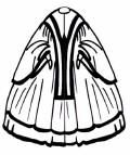 Picture of a witzchoura mantle. Costume history and fashion history of cloaks and coats.