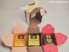 スタンピンアップ ギフトボックス・パンチボードでミニミニサイズのボックスを作りました!バレンタイン向けに3段チェスト風にしてみました! Mini box for Valentine's Day using Gift Box Punch Board, Stampin' Up!