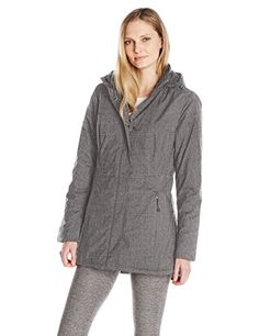 cb7705721846e Charles River Apparel Women's Wind and Water Resistant Journey Parka, Grey  Melange, XS