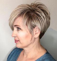 Pixie Haircut for Older Women Short Hairstyles Over 50, Short Layered Haircuts, Thin Hair Haircuts, Haircut For Older Women, Short Hair Cuts For Women, Bobs For Thin Hair, Great Hair, Pixie Haircut, Curly Hair Styles