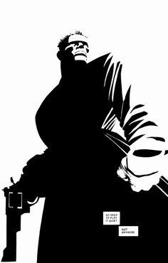 Sin City {by Frank Miller} Comic Book Artists, Comic Book Heroes, Comic Artist, Comic Books Art, Frank Miller Sin City, Frank Miller Art, Sin City Comic, Dc Comics, Frank Frazetta