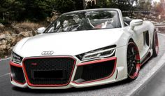 Modified Audi R8 2013 V10 Spyder http://www.1modifiedcars.com/2008/12/20/modified-custom-black-audi-r8-bb-motorsport-edition/
