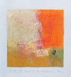 Oct. 10 2017  Original Abstract Oil Painting  9x9 painting