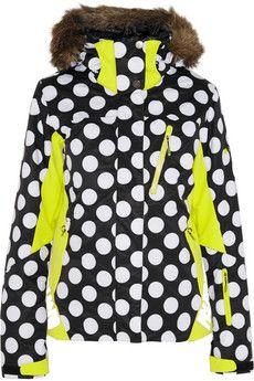 House of Holland + Roxy polka-dot Dry Flight shell ski jacket | NET-A-PORTER
