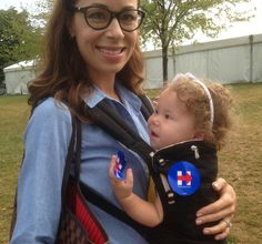 Eleanor is ready for her very first @HillaryClinton event here in #CLE! #Hillary2016