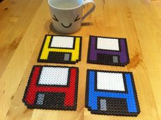 Floppy disk coasters (Set of 4). $21.00, via Etsy.