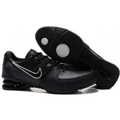 online store 6e73a b5ee3 Fitted Nike Shox R2 Men Leather Matte Black/Silver Shoes 1035 $52 Black  Silver,
