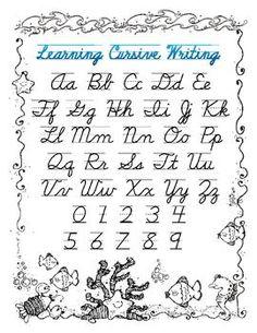 Homeschool parent free cursive handwriting book bgc pinterest cursive handwriting key fandeluxe Images