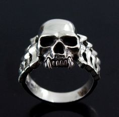 Wild Things Sterling Silver Twin Cam Harley Engine Ring